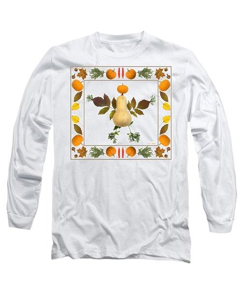 Squash With Pumpkin Head Long Sleeve T-Shirt