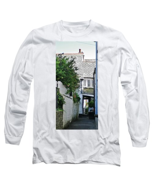 Squeeze-ee-belly Alley Long Sleeve T-Shirt by Richard Brookes