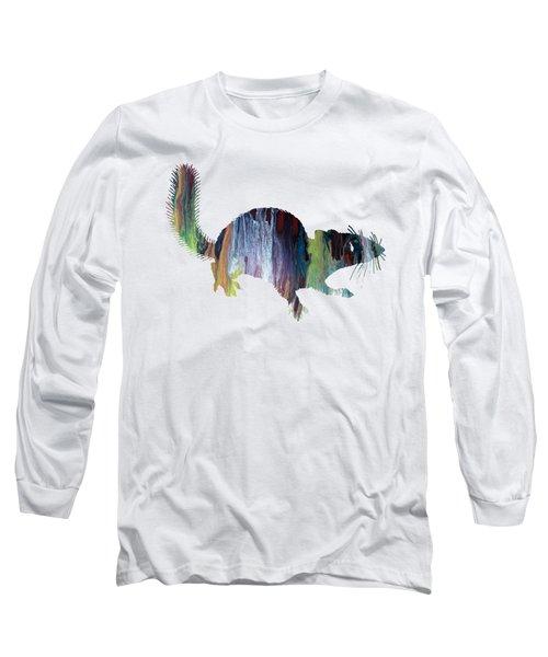 Squirrel Long Sleeve T-Shirt by Mordax Furittus