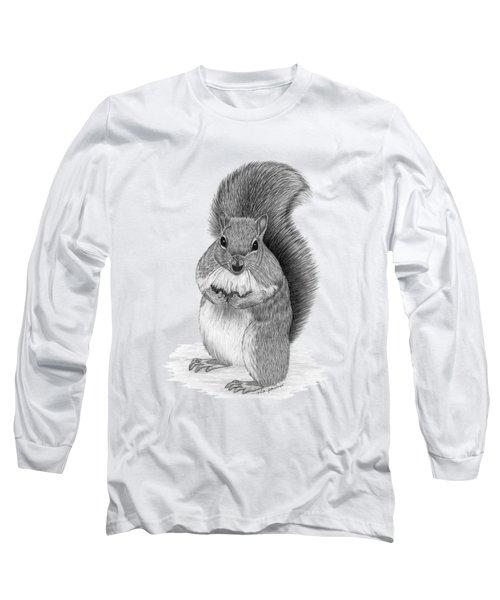 Squirrel Long Sleeve T-Shirt by Rita Palmer