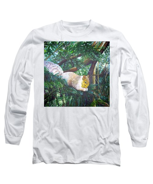Squirrel Snacking Long Sleeve T-Shirt