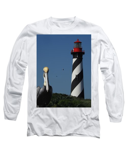 Long Sleeve T-Shirt featuring the photograph St. Augustine Lighthouse by Rod Seel