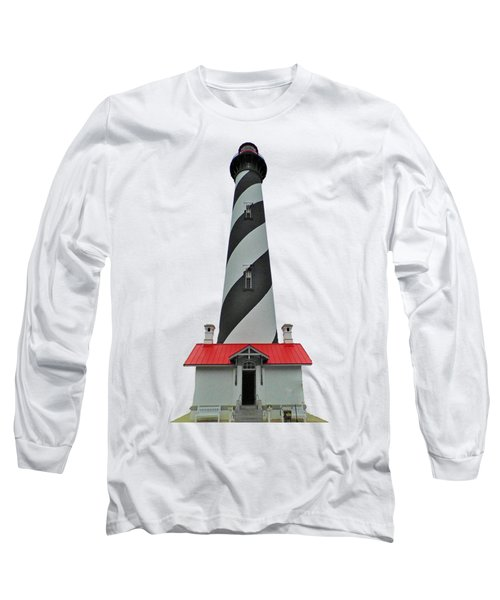 St Augustine Lighthouse Transparent For T Shirts Long Sleeve T-Shirt by D Hackett