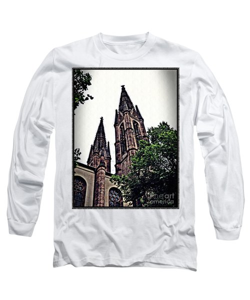 St Boniface Church Towers   Long Sleeve T-Shirt by Sarah Loft