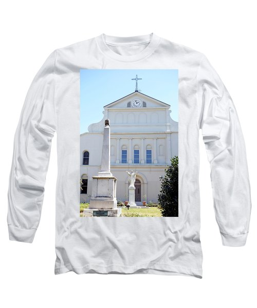 St. Louis Cathedral Back Lawn Long Sleeve T-Shirt