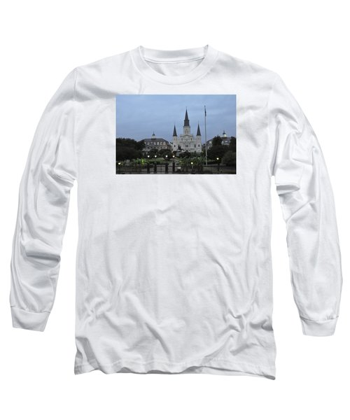 St. Louis Catherderal Long Sleeve T-Shirt by Helen Haw