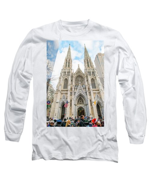 St. Patrick Cathedral In New York Long Sleeve T-Shirt