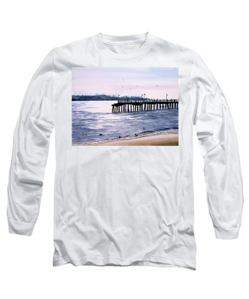 St. Simons Island Fishing Pier Long Sleeve T-Shirt