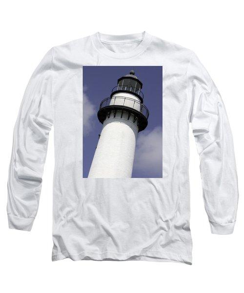 St Simons Island Lighthouse Long Sleeve T-Shirt by Elizabeth Eldridge