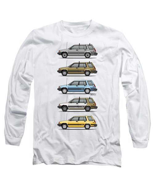 Stack Of Mark's Toyota Tercel Al25 Wagons Long Sleeve T-Shirt