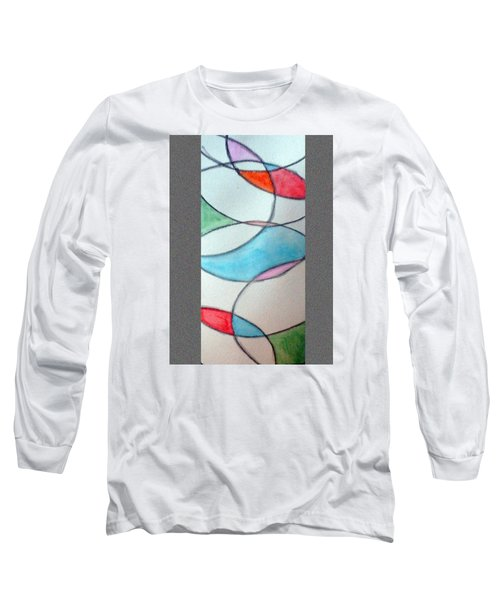 Stain Glass Long Sleeve T-Shirt by Loretta Nash