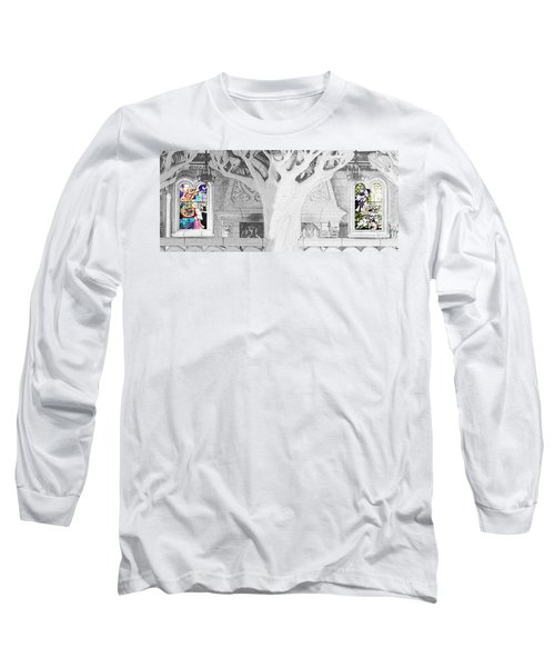 Stained Glass Windows Disney Long Sleeve T-Shirt by Roger Lighterness