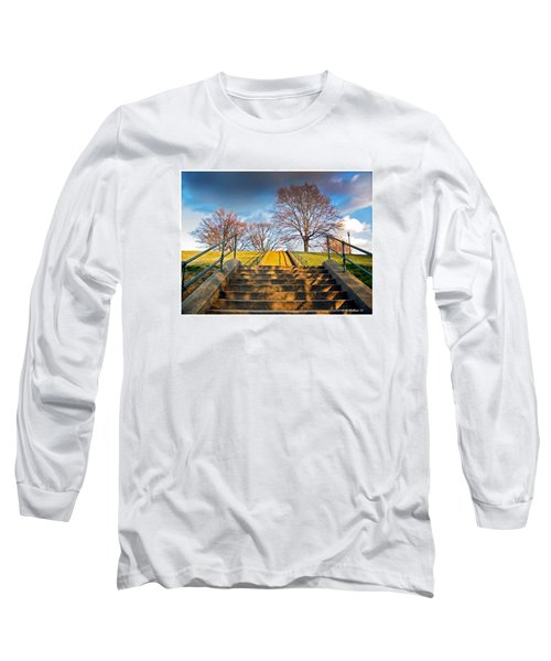 Stairway To Federal Hill Long Sleeve T-Shirt by Brian Wallace