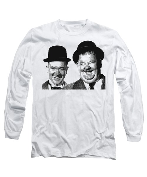 Stan And Ollie - Parallel Hatching Long Sleeve T-Shirt