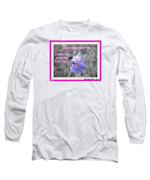 Standing Alone Long Sleeve T-Shirt by Holley Jacobs
