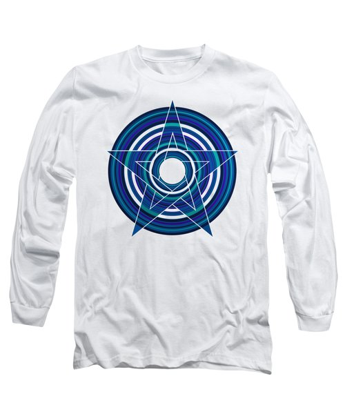 Star Marine Over Concentric Circles Long Sleeve T-Shirt