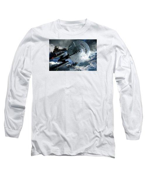 Star Trek Into Darkness, Original Mixed Media Long Sleeve T-Shirt by Thomas Pollart