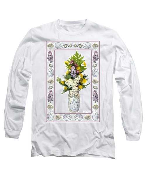 Long Sleeve T-Shirt featuring the photograph Star Vase With A Bouquet From Heaven by Lise Winne