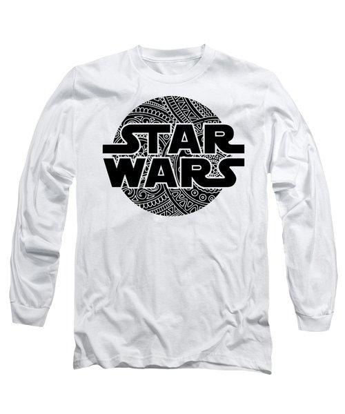 Star Wars Art - Logo - Black Long Sleeve T-Shirt