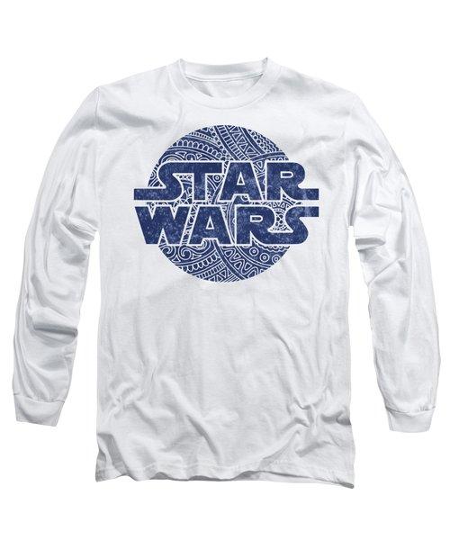 Star Wars Art - Logo - Blue Long Sleeve T-Shirt