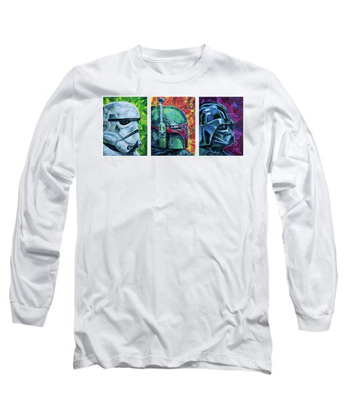 Star Wars Helmet Series - Triptych Long Sleeve T-Shirt