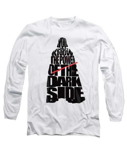 Star Wars Inspired Darth Vader Artwork Long Sleeve T-Shirt