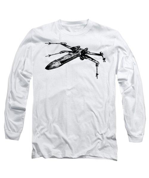 Star Wars T-65 X-wing Starfighter Tee Long Sleeve T-Shirt by Edward Fielding