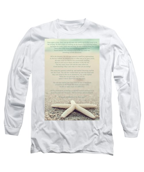 Starfish Make A Difference Vintage Set 1 Long Sleeve T-Shirt by Terry DeLuco