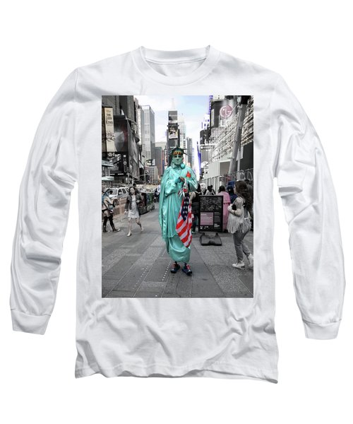 Statue Of Liberty Guy Long Sleeve T-Shirt