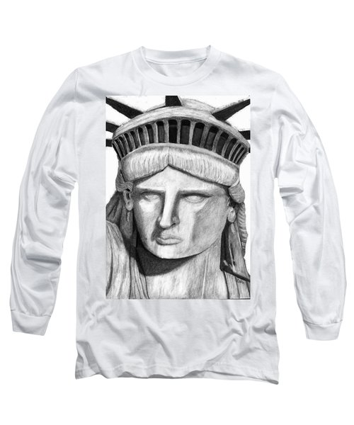 Statue Of Liberty Selfie Long Sleeve T-Shirt by Terry Cork