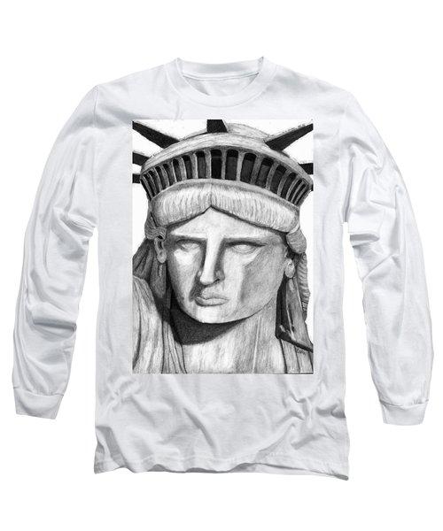 Statue Of Liberty Selfie Long Sleeve T-Shirt