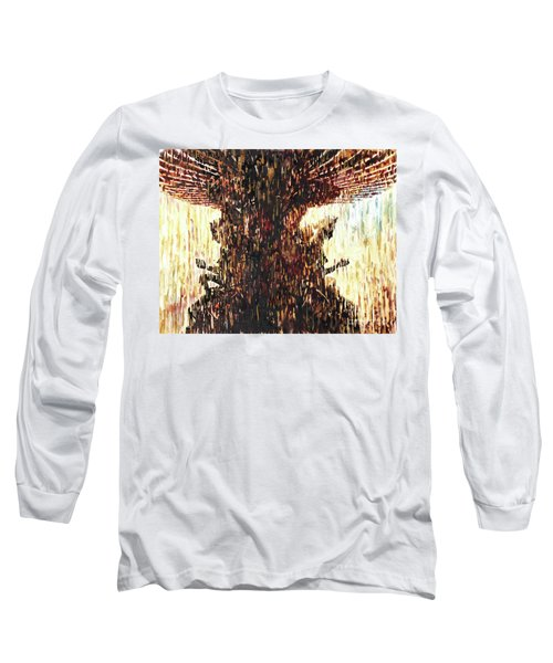 Long Sleeve T-Shirt featuring the painting Statues On Las Vegas Fountain- Las Vegas, Nevada by Ryan Fox