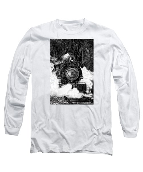 Steam Engine Jan 2016 In Hdr Long Sleeve T-Shirt by Michael White