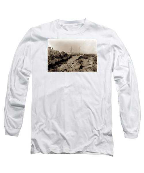 Steam Schooner S S J. B. Stetson, Ran Aground At Cypress Point, Sep. 1934 Long Sleeve T-Shirt by California Views Mr Pat Hathaway Archives