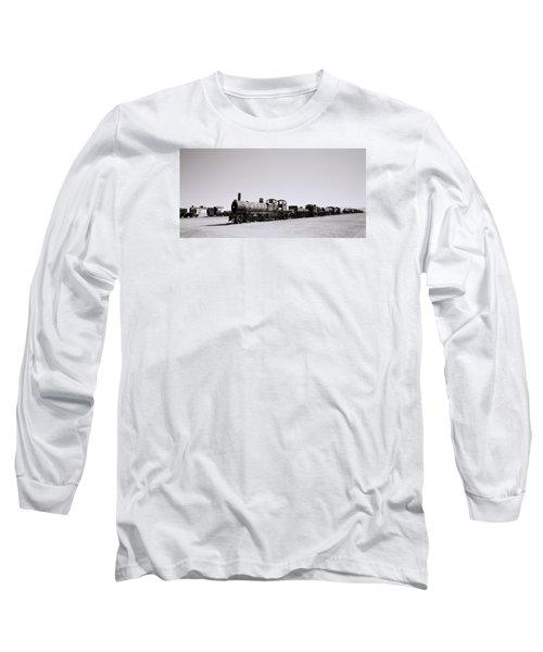 Steam Trains Long Sleeve T-Shirt by Shaun Higson