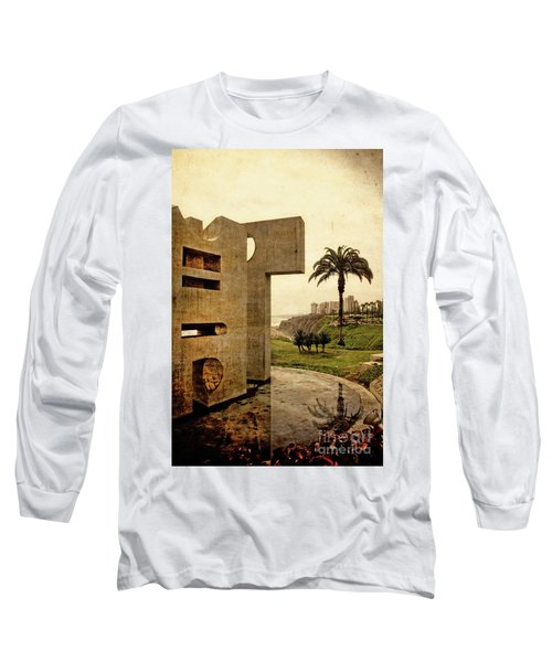 Long Sleeve T-Shirt featuring the photograph Stelae In The Park - Miraflores Peru by Mary Machare