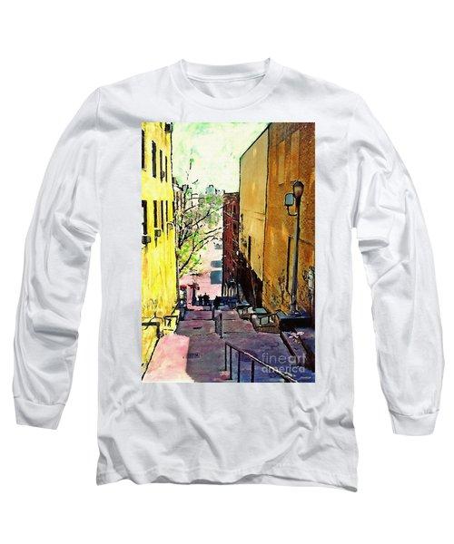 Steps At 187 Street Long Sleeve T-Shirt by Sarah Loft