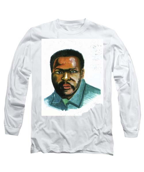 Steve Biko Long Sleeve T-Shirt by Emmanuel Baliyanga