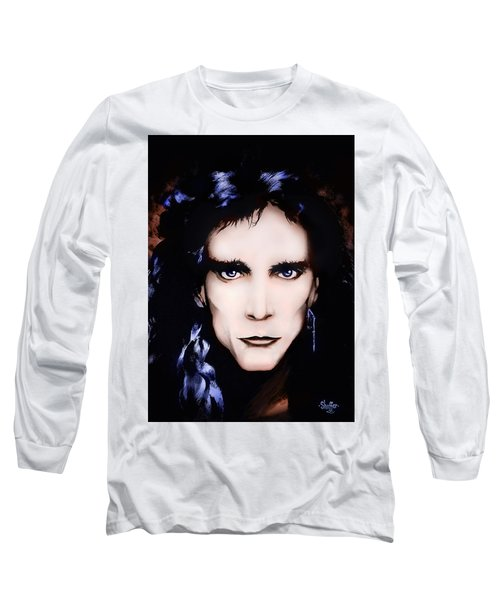 Long Sleeve T-Shirt featuring the painting Steve Vai by Curtiss Shaffer