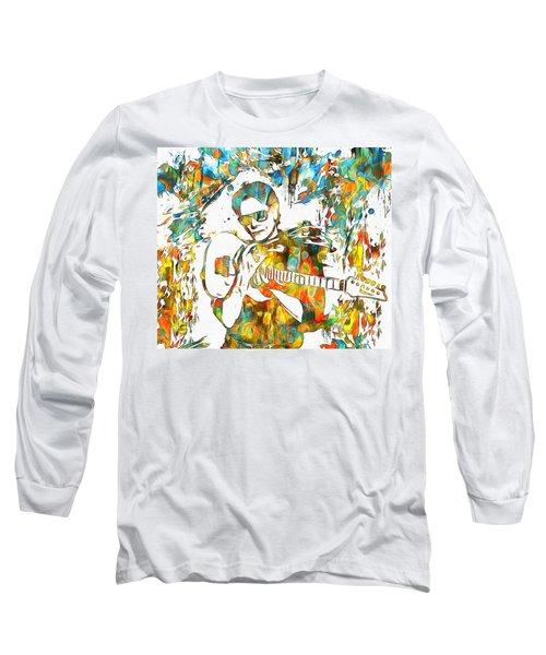 Steve Vai Paint Splatter Long Sleeve T-Shirt