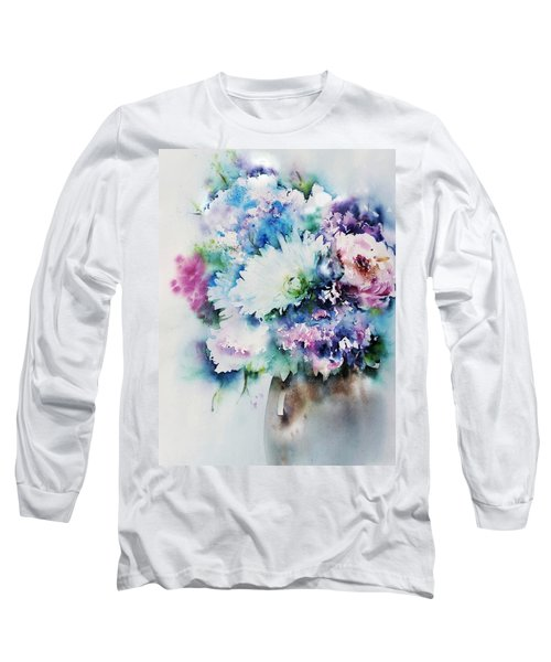 Still Life Rose Bouquet Watercolour Long Sleeve T-Shirt