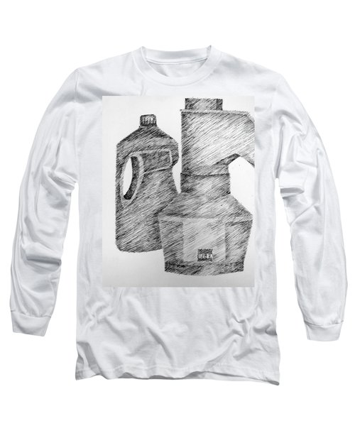Still Life With Popcorn Maker And Laundry Soap Bottle Long Sleeve T-Shirt