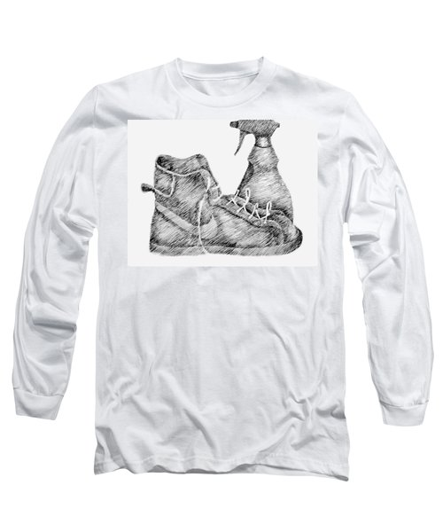 Still Life With Shoe And Spray Bottle Long Sleeve T-Shirt