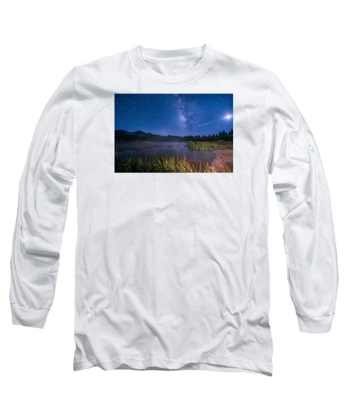 Still Night At Upper Molas Lake Long Sleeve T-Shirt by Michael J Bauer