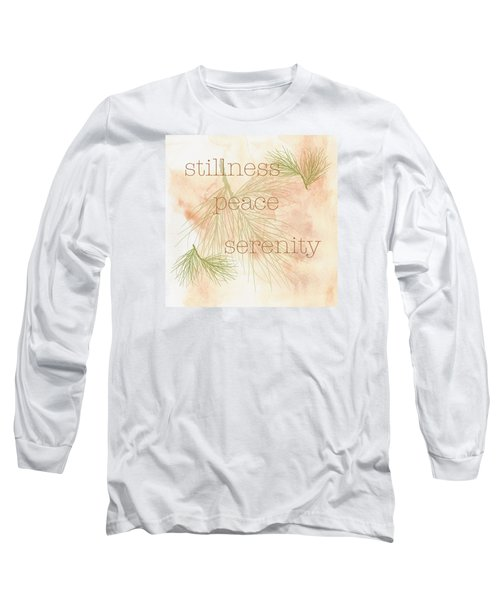 Long Sleeve T-Shirt featuring the painting Stillness  by Kandy Hurley