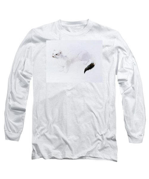 Stoat Watercolor Long Sleeve T-Shirt