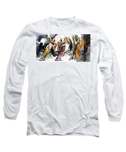 Stock Market Bull Long Sleeve T-Shirt