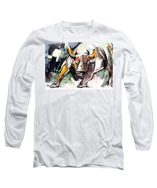 Stock Market Bull Long Sleeve T-Shirt