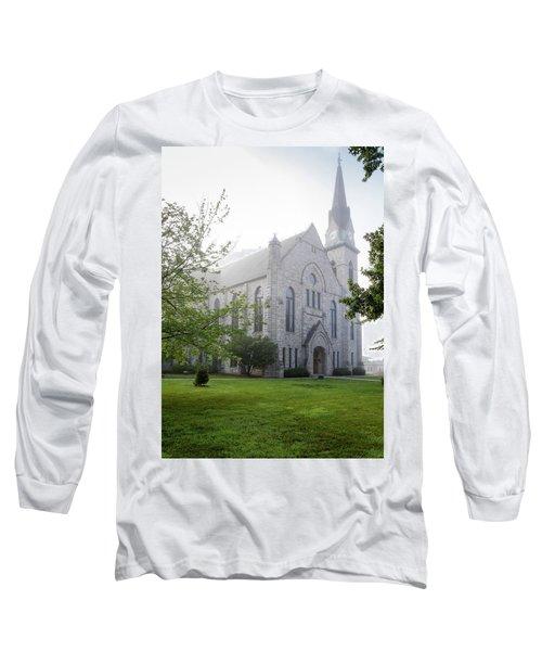 Stone Chapel In Fog Long Sleeve T-Shirt