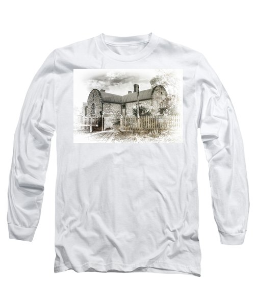 Long Sleeve T-Shirt featuring the photograph Stone Cottage by Wayne Sherriff